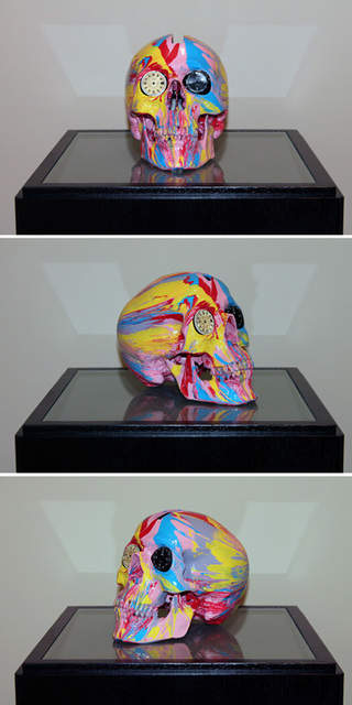 Damien Hirst, 'The Hours Spin Skull #2', 2009, Kenneth A. Friedman & Co.
