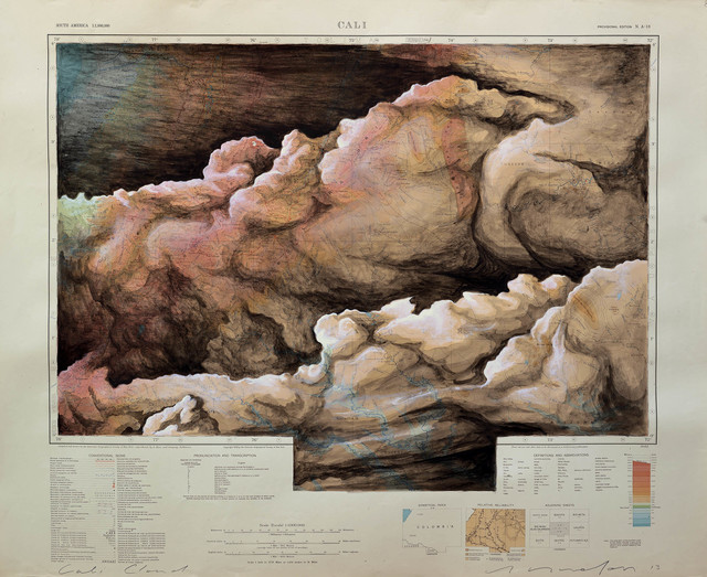, 'Cali Cloud Cloud: American Geographic Society of New York 1942,' 2013, Art Bastion Gallery