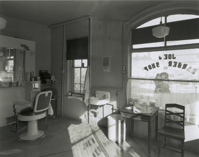 George Tice, 'Joe's Barber Shop, Paterson, New Jersey', 1970, Gallery 270