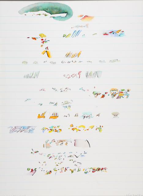 John Dowell, 'Concerto for four brass + one love', 1972, Martini Studio d'Arte