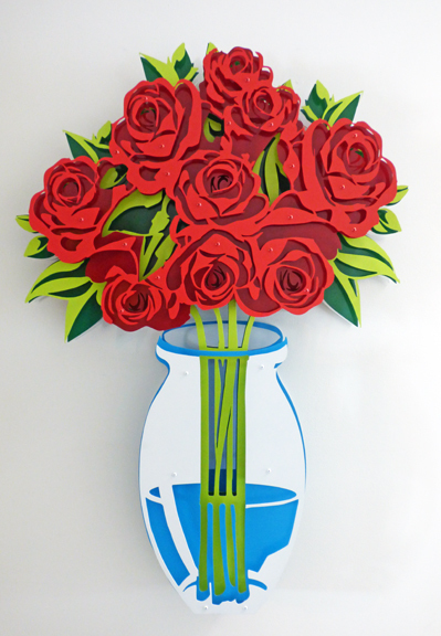 , 'Small Vase of Roses - Painted,' , FP Contemporary