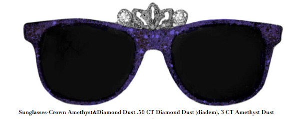 Stacy Engman, 'Sunglasses-Crown Amethyst&Diamond Dust .50 CT Diamond Dust (diadem), 3 CT Amethyst Dust', 2019, ART CAPSUL