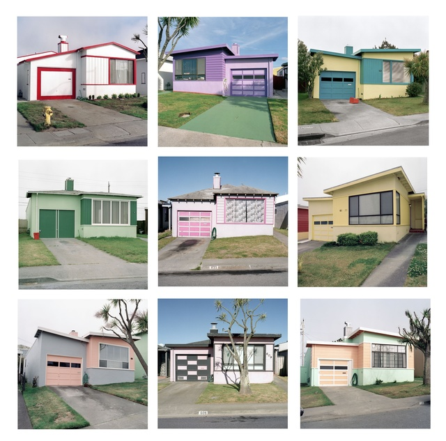 , 'Freshly Painted Tract Houses, Daly City, California,' 1991, Robert Mann Gallery