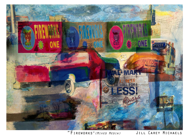 , 'Fireworks,' 2016, Joshua Tree Art Gallery