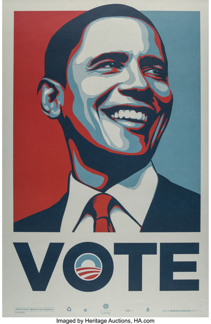 Shepard Fairey (OBEY), 'Vote Obama', c. 2008, Heritage Auctions