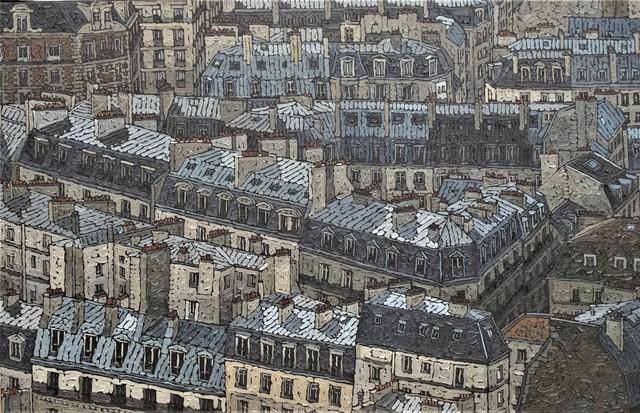, 'Les Toits de Paris,' 2018, galerie bruno massa