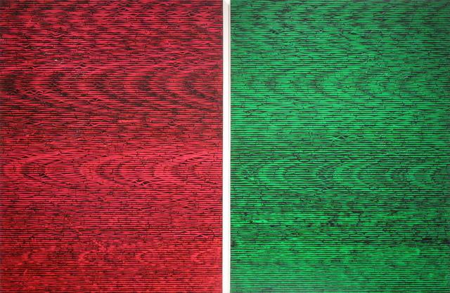 , 'RK, 30.72 / GK, 30.72,' 2015, Barry Whistler Gallery