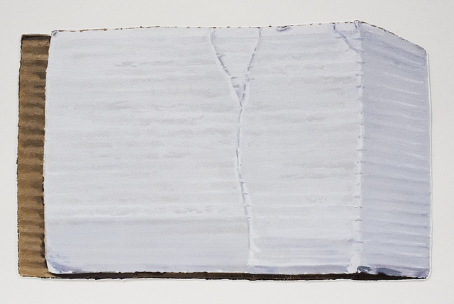 Brad Nelson, 'Cardboard Packaging From An Exercise Bike', 2019, Drawing, Collage or other Work on Paper, Oil on paper, FROSCH&CO