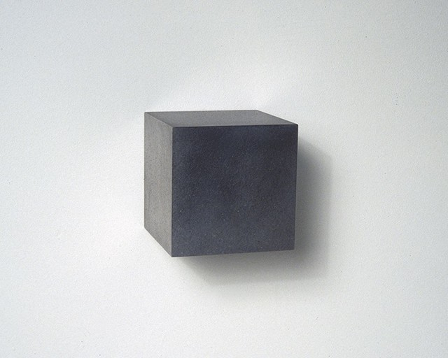, 'Graphite Cube,' 2015, Renate Bender