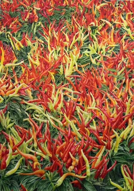 , 'Dancing Chillies,' , Mall Galleries