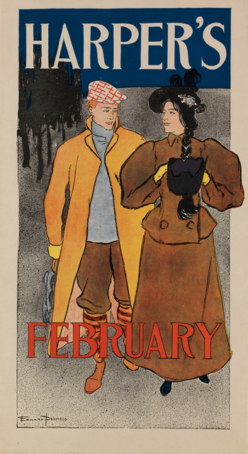 , 'Harper's February - Couple Walking,' 1896, Omnibus Gallery