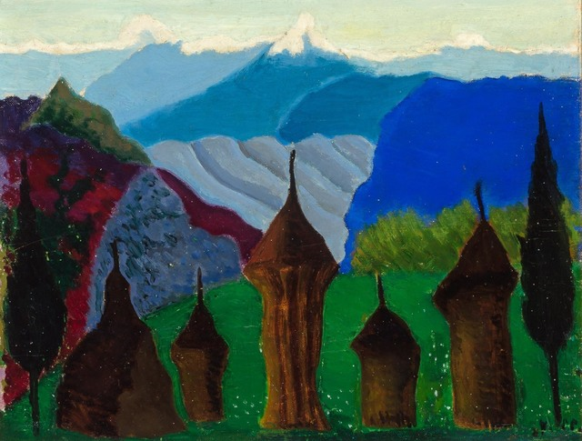 Joseph Stella, 'Landscape with Domes and Towers', Doyle