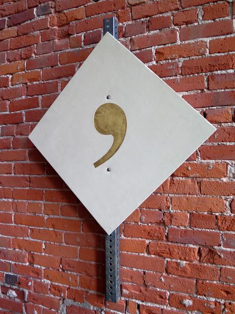 , 'Cut Off Piece (Golden Comma),' 2016, Resource Art