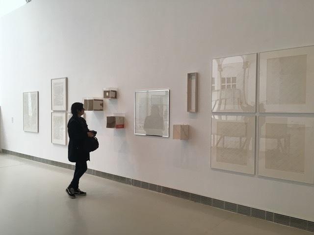 Esther Ferrer, exhibition view at Museo Reina Sofía, Palacio de Velázquez (solo show), 2017-18