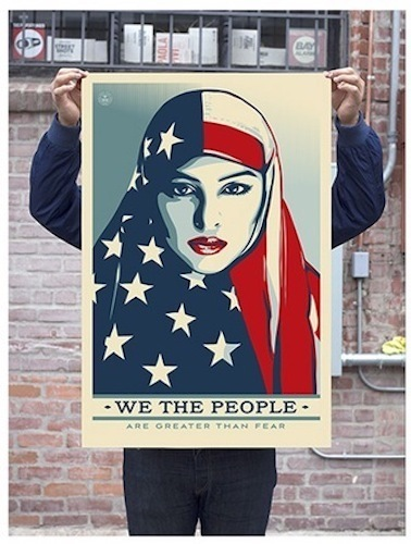 Shepard Fairey, 'Greater Than Fear - Unsigned Offset', 2017, Blackline Gallery