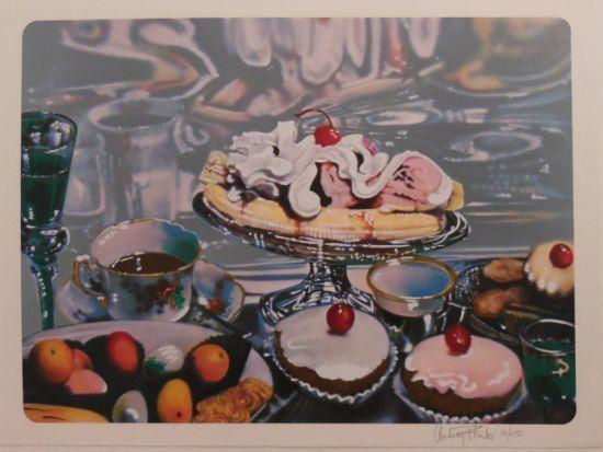 Audrey Flack, 'Banana Split Sundae', 1974, Print, Lithograph, Kunzt Gallery