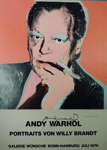 Andy Warhol, 'Portraits von Willy Brandt', 1976, Ephemera or Merchandise, Color offset lithograph on paper, Bengtsson Fine Art