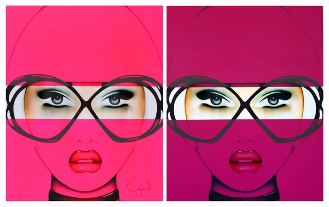 Anja Van Herle, 'For Your Eyes Only Series (Diptych)  - Original Painting on Panel', JoAnne Artman Gallery