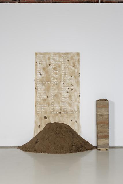 Nolan Oswald Dennis, 'xenolith V: prepositions', 2018, Goodman Gallery