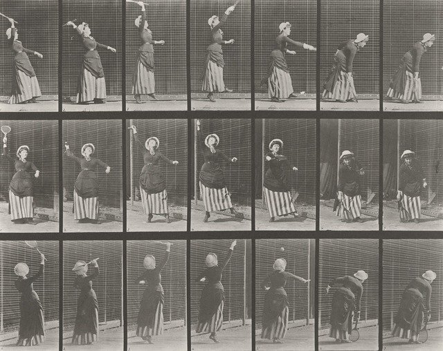 , 'Plate 298. Lawn tennis; serving.,' 1887, Laurence Miller Gallery