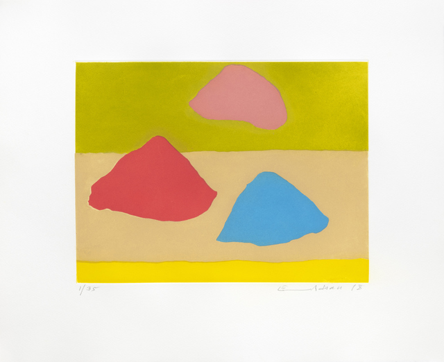 Etel Adnan, 'Islands', 2018, Galerie Lelong & Co.