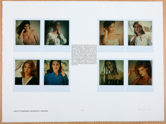 , 'Lessons in Posing Subjects: Standard Pose #3 (Hand/Hair),' 1982, Rhona Hoffman Gallery