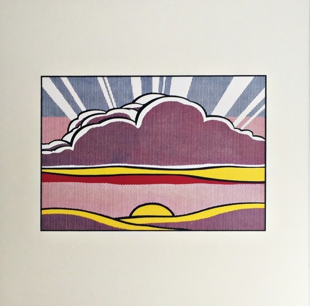 Roy Lichtenstein, 'Sinking Sun, 1964 (Lt Ed Promotional Print for Art Basel)', 1987, Alpha 137 Gallery Gallery Auction
