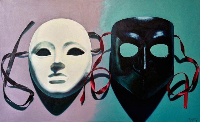 , 'Maschere veneziane,' 2018, Galleria Punto Sull'Arte