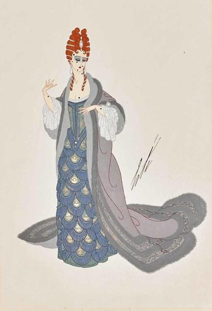 Erté (Romain de Tirtoff), 'Martha, Act I (Chicago Opera), 1925', 1923, Print, Gouache on paper, Martin Lawrence Galleries