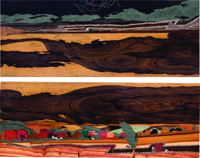 , 'Amanece en las trincheras (Díptico) /Sunrise in the trenches (Diptych),' 2011, Galeria Oscar Cruz