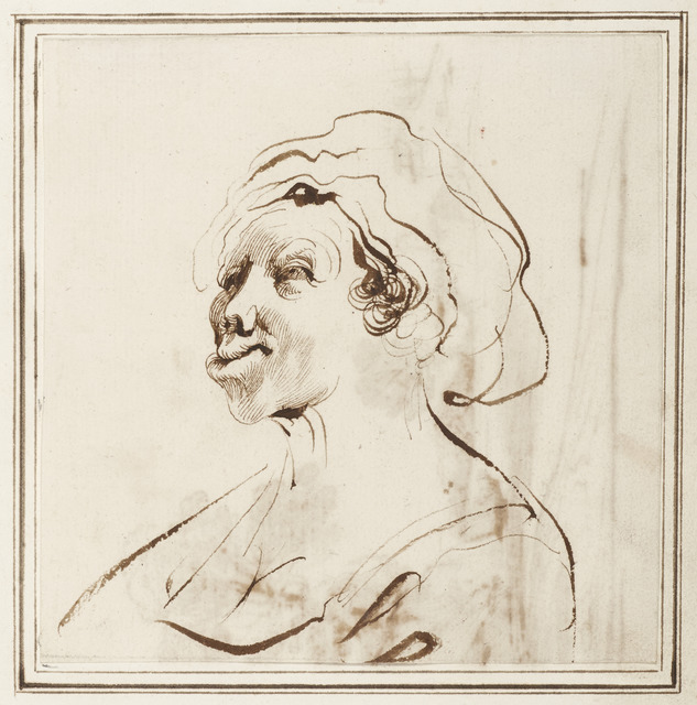 , 'Woman with Deformed Lips,' 1630s-40s, Princeton University Art Museum