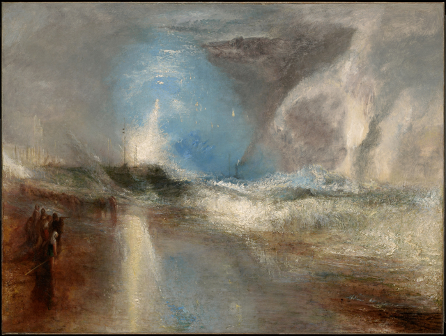 , 'Rockets and Blue Lights (Close at Hand) to Warn Steamboats of Shoal Water,' 1840, Clark Art Institute