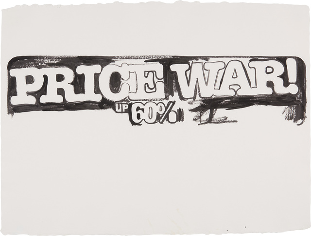 Andy Warhol, 'Price War', 1985-1986, Drawing, Collage or other Work on Paper, Synthetic polymer paint on HMP paper, Phillips