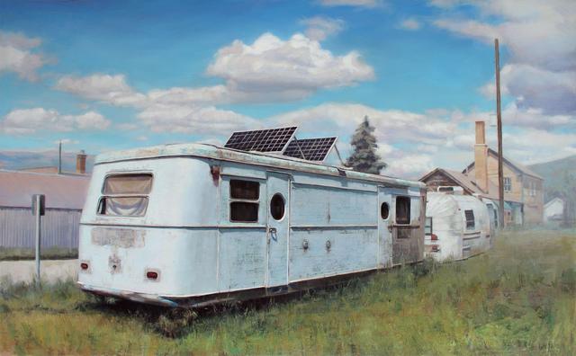 Jason Kowalski, 'Solar Spartan', 2016, Painting, Oil on wood panel, Sue Greenwood Fine Art