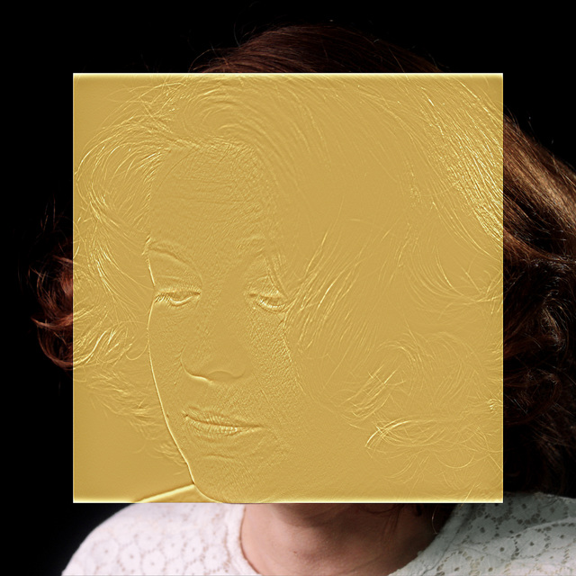 , 'The Gold Room (Metal Cup Portrait),' 2016, Wasserman Projects