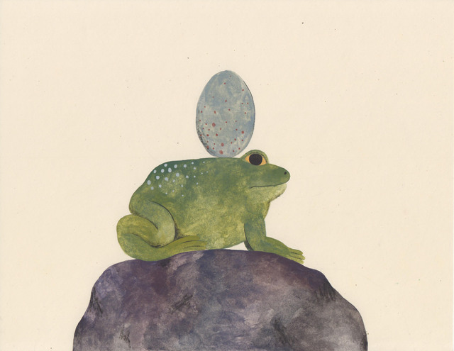 , 'Frog with Egg and Rock,' 2017, HARPY