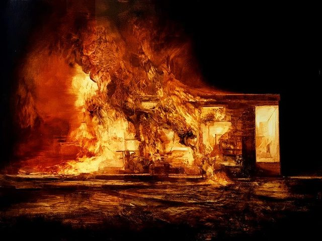 , 'Burning House (study 3) ,' , OLSEN GALLERY