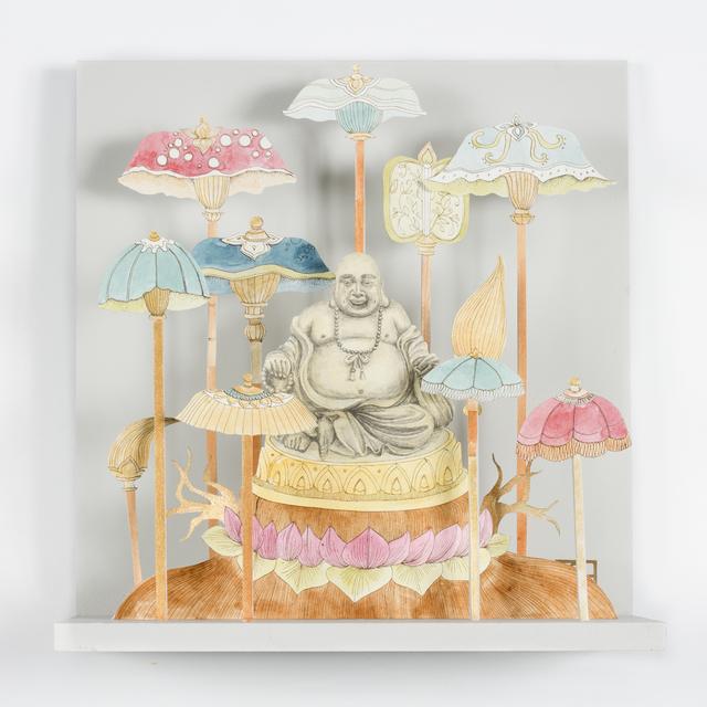 , 'Buddha with Umbrellas,' 2019, Beatriz Esguerra Art