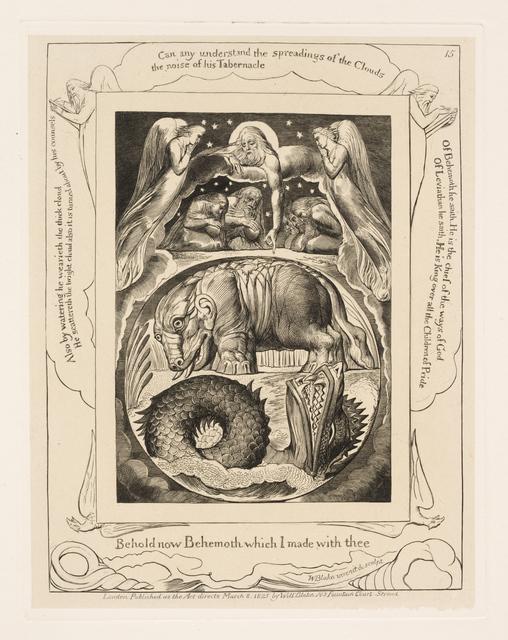 , 'Behemoth and Leviathan,' 1825, Clark Art Institute