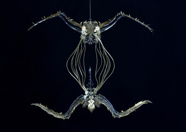 U-Ram Choe, 'Unicus - Cavum ad initium', 2011, Sculpture, Brass, steel, motor, gears, CPU board, bitforms gallery