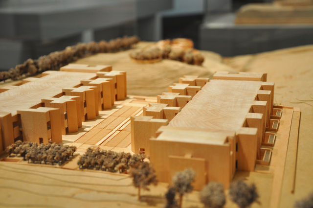 , 'The Salk Institute for Biological Studies (model),' 1959-1965, Bellevue Arts Museum