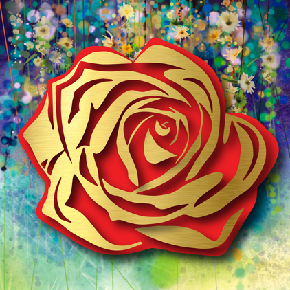 , 'Gold Rose on Floral,' 2017, FP Contemporary