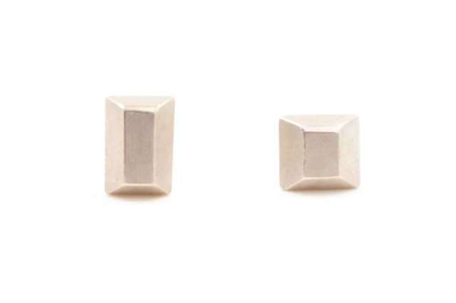 , 'Sterling Silver Satin Finish Sugar Cube Post Earrings   ,' 2016, form & concept