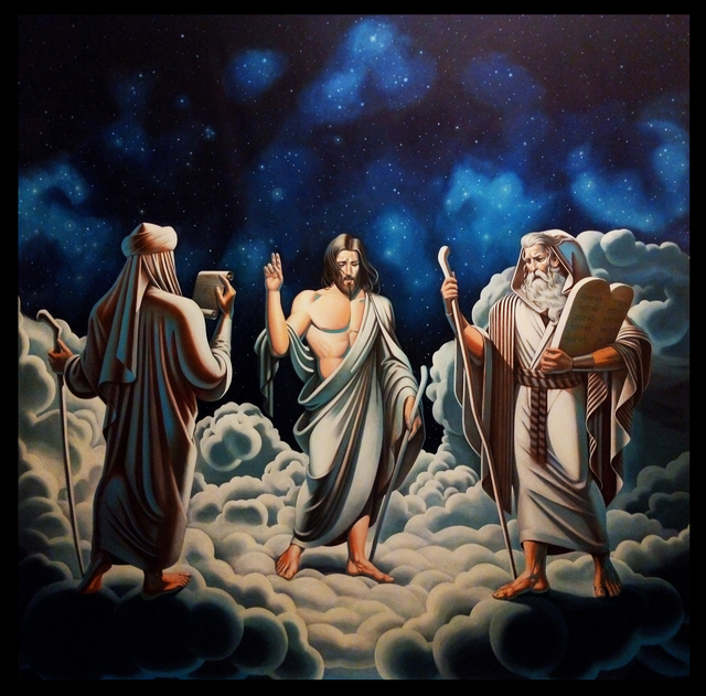 , 'The Prophets Muhammad, Jesus and Moses,' 2018, Ekavart Gallery