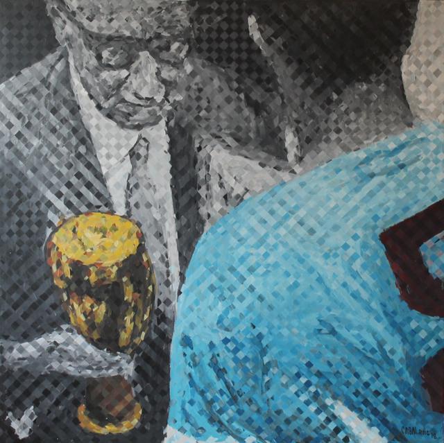 "Enrique Casal Roig, '""Jules Rimet, Maracaná 1950""', 2018, Tazart"