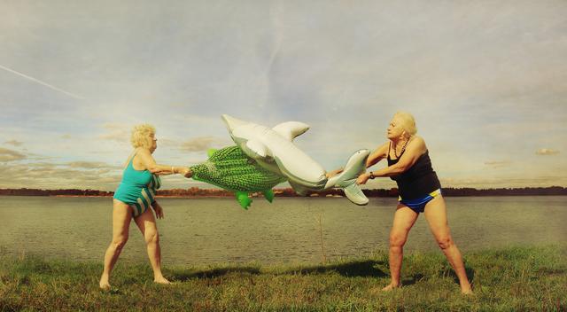 , 'The friends hula hoop on the banks of the Volga [Yaroslavl], from Planet Lovigin Russia series, 2009,' 2012, °CLAIR Galerie