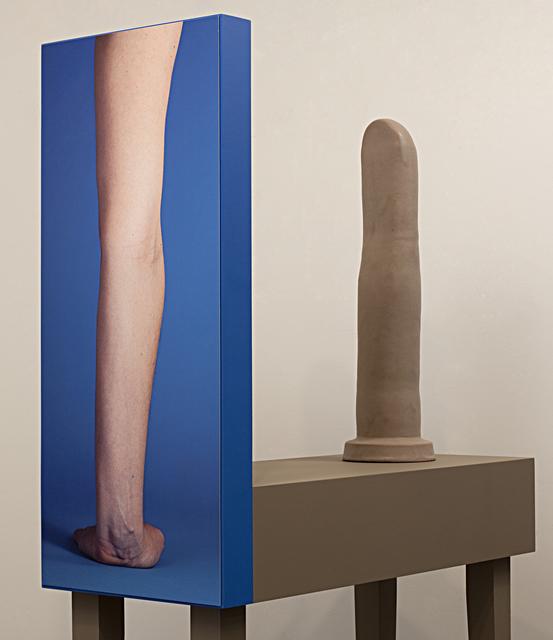 , 'Arm Armature #5 (blue, shoulder),' 2016, Miranda Kuo Gallery
