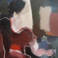 , 'La Femme à la Robe Marron Chez l'Antiquaire,' 2009, Susan Eley Fine Art