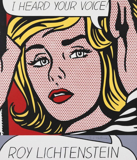 Roy Lichtenstein, 'Vicki', 1968, Posters, Offset print in color on paper, Caviar20