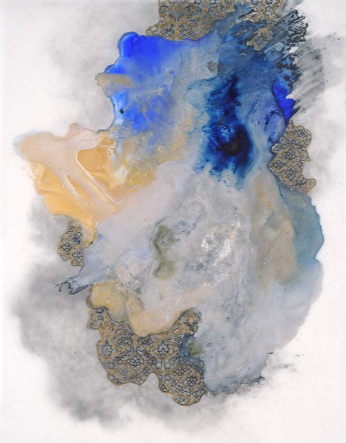 Hedieh Javanshir Ilchi, 'Ashen lands and blue skies 4', 2019, Drawing, Collage or other Work on Paper, Acrylic and graphite on Mylar, Hemphill Artworks